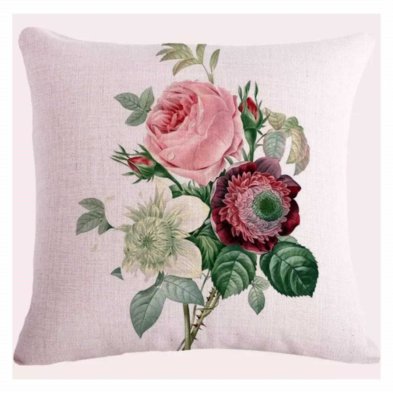 Cushion Pillow Rose & Flowers Beautiful Cushions, Decorative Pillows The Renmy Store