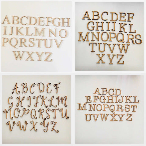 Letter Alphabet MDF Cut Out Raw Personalised Custom - The Renmy Store
