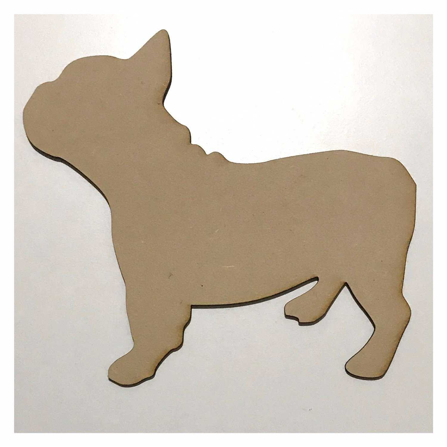 French Bull Frenchie Dog DIY Raw MDF Timber Other Home Décor The Renmy Store