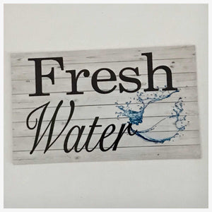 Fresh Water Sign Wall Plaque or Hanging Plaques & Signs The Renmy Store