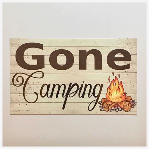Camping Tent Sign