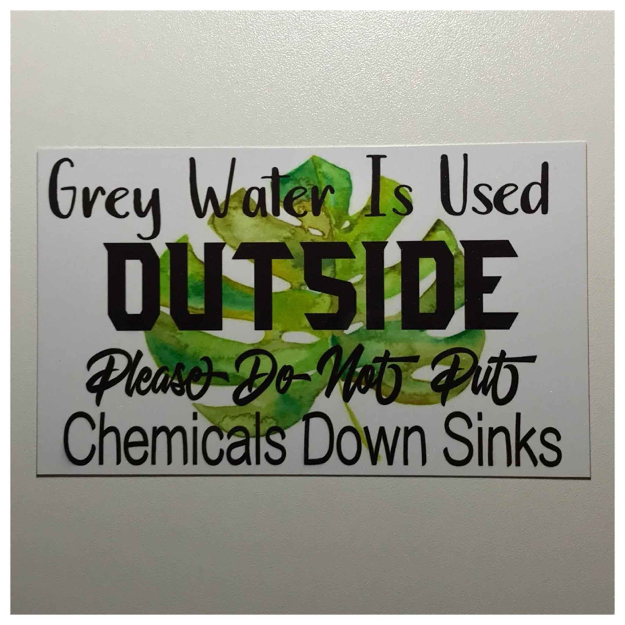 Grey Water Used Outside Sign Wall Plaque or Hanging Eco Friendly House Plaques & Signs The Renmy Store