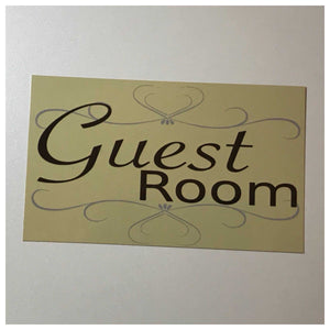 Guest Room Door Sign Wall or Hanging Elegant Plaques & Signs The Renmy Store