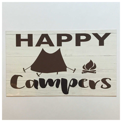 Happy Campers Camp Tent Sign