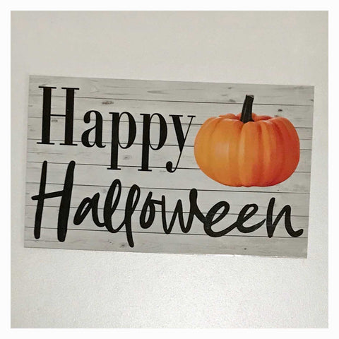 Happy Halloween with Pumpkin Sign Wall Plaque or Hanging - The Renmy Store