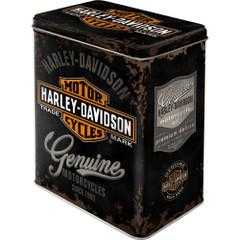 Box Tin Container Harley Davidson Bike Vintage Retro | The Renmy Store