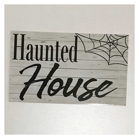 Haunted House Sign Wall Plaque or Hanging - The Renmy Store