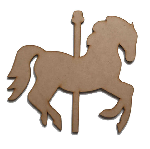 Horse Carousel MDF Wooden DIY Craft