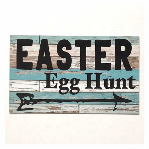 Easter Egg Hunt Sign Wall Plaque or Hanging - The Renmy Store