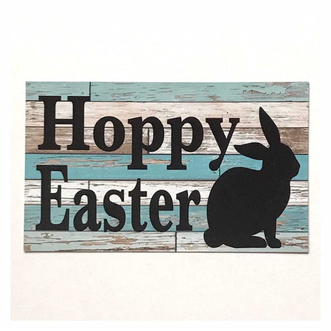 Hoppy Easter Sign Wall Plaque or Hanging - The Renmy Store
