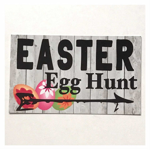 Easter Egg Hunt Vintage Sign Wall Plaque or Hanging - The Renmy Store