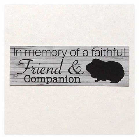 RIP Guinea Pig Pet Memorial Faithful Friend Companion Sign Plaque Or Hanging - The Renmy Store
