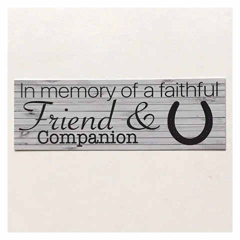 RIP Horse Pet Memorial Faithful Friend Companion Sign Plaque Or Hanging - The Renmy Store