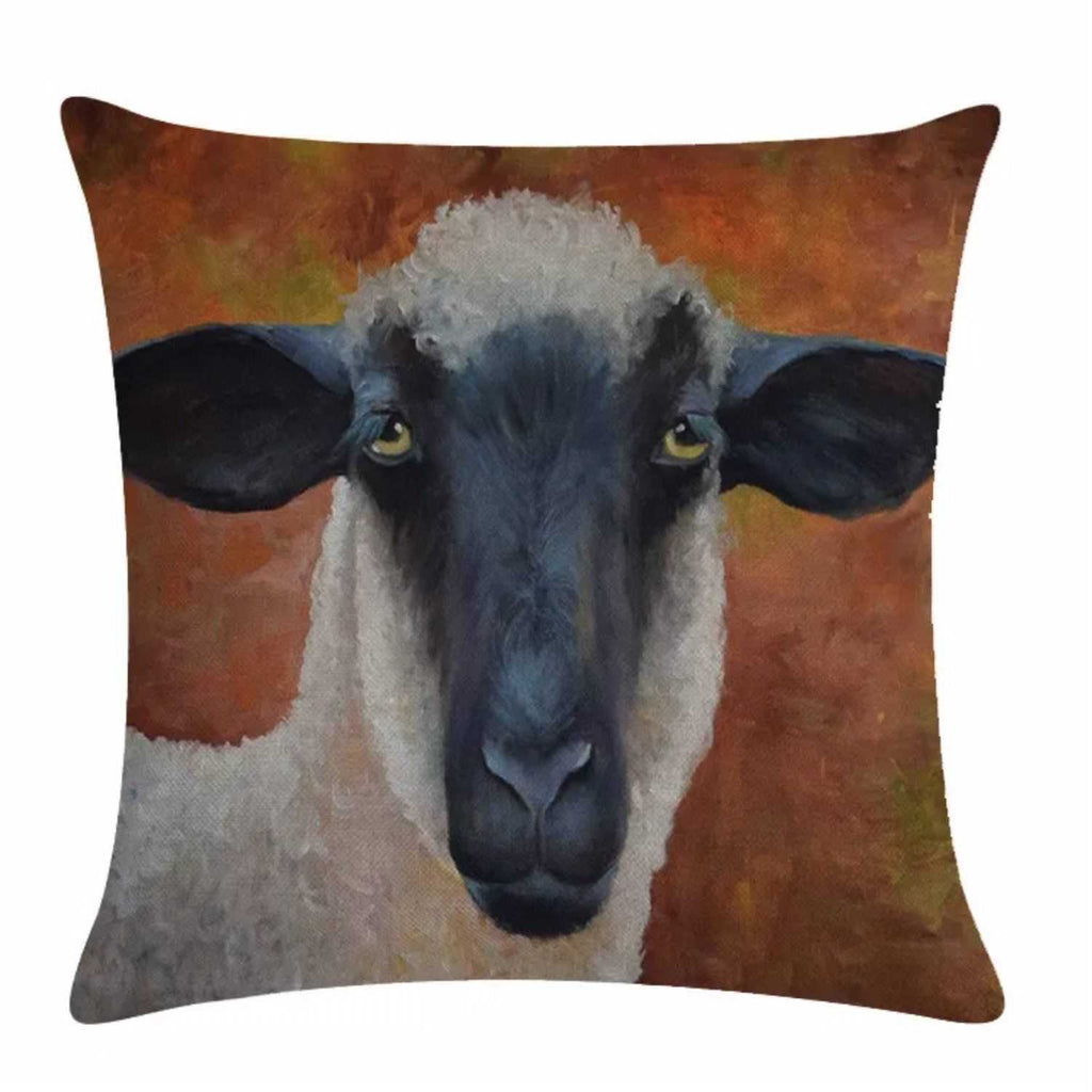 Cushion Pillow Sheep Ewe Cute White Funky Farmhouse - The Renmy Store