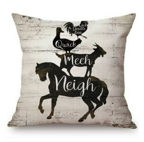 Cushion Pillow Horse Rooster Duck Goat