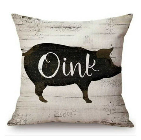 Cushion Pillow Pig Oink