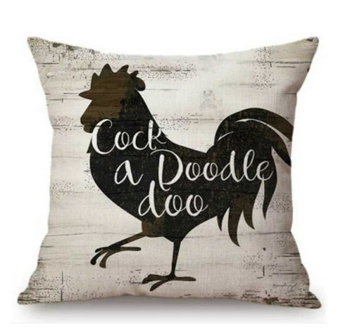 Cushion Pillow Rooster Cock A Doodle Doo