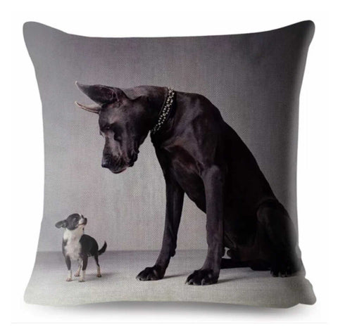 Cushion Pillow Gentle Giant Dog with Chihuahua