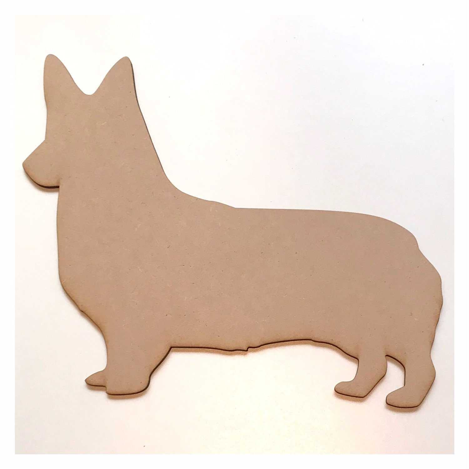 Corgi Pembroke Welsh Dog DIY Raw MDF Timber - The Renmy Store