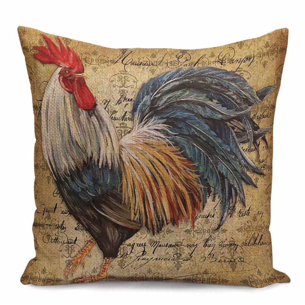 Cushion Pillow Rooster Farmhouse Country Style - The Renmy Store