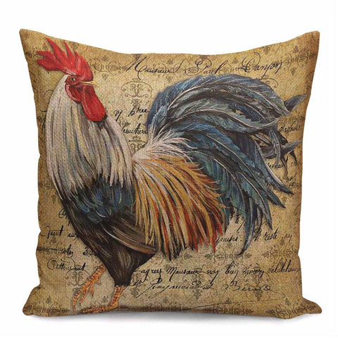 Cushion Pillow Rooster Farmhouse Country Style