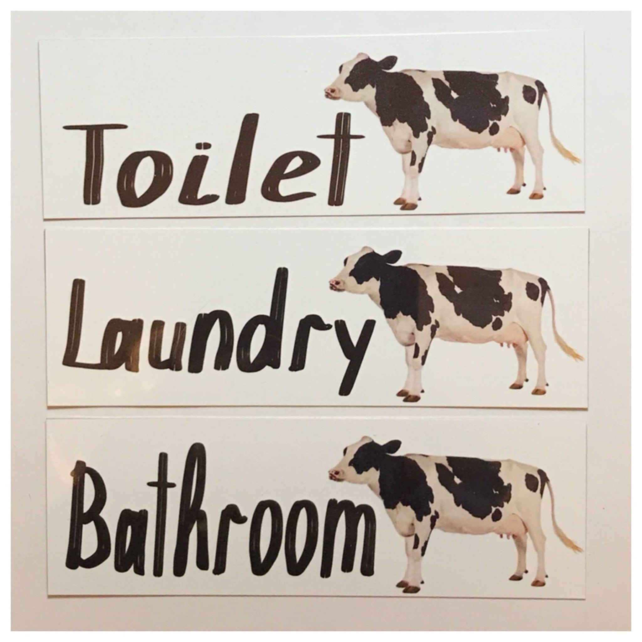 Cow Toilet Laundry Bathroom Sign - The Renmy Store