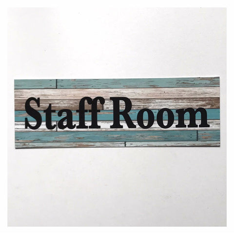Staff Room Rustic Blue Bold Sign