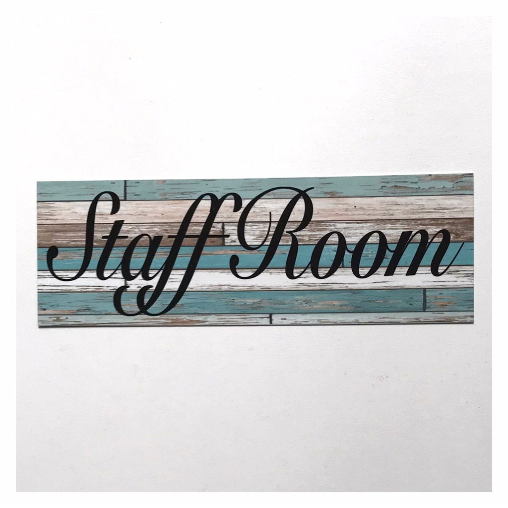 Staff Room Rustic Blue Vintage Sign Wall Plaque or Hanging - The Renmy Store