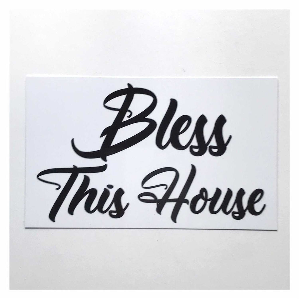 Bless This Home French White Sign Wall Plaque or Hanging - The Renmy Store