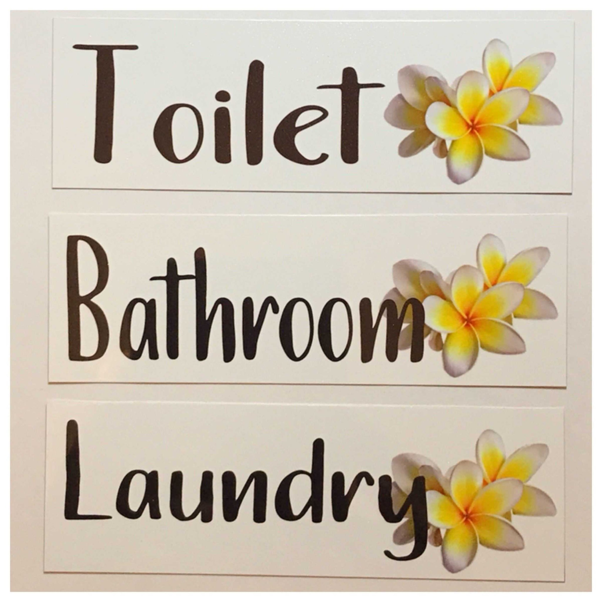 Frangipani Toilet Laundry Bathroom Sign - The Renmy Store
