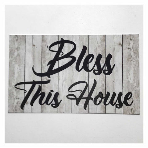 Bless This Home Rustic Grey Sign - The Renmy Store