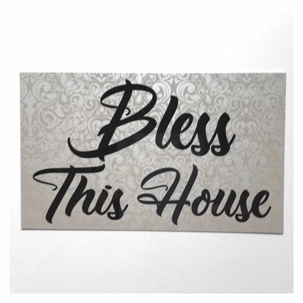Bless This Home Pretty Sign Wall Plaque or Hanging - The Renmy Store