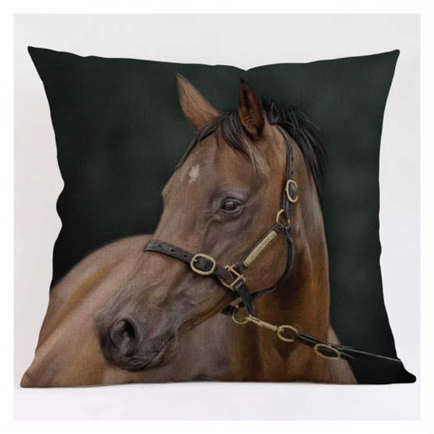Cushion Pillow Brown Horse - The Renmy Store