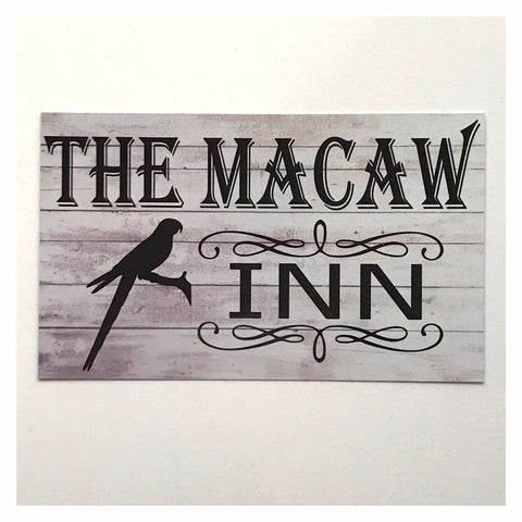 The Macaw Inn Bird Pet Sign Wall Plaque Or Hanging - The Renmy Store