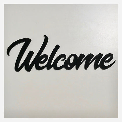 Welcome Word Plastic Acrylic Wall Art Vintage Black - The Renmy Store