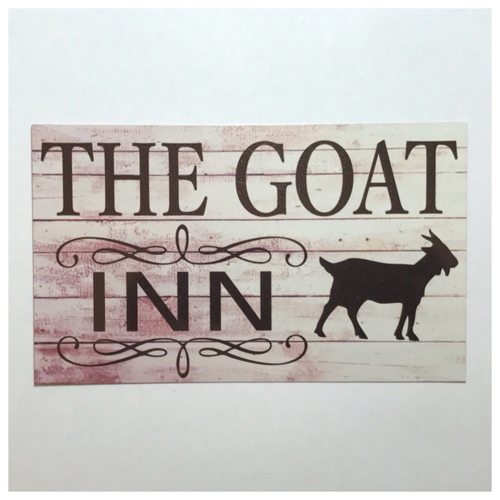 The Goat Inn Sign Wall Plaque Or Hanging - The Renmy Store