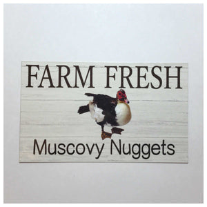 Farm Fresh Muscovy Nuggets Egg Sign Wall Plaque Or Hanging Plaques & Signs The Renmy Store