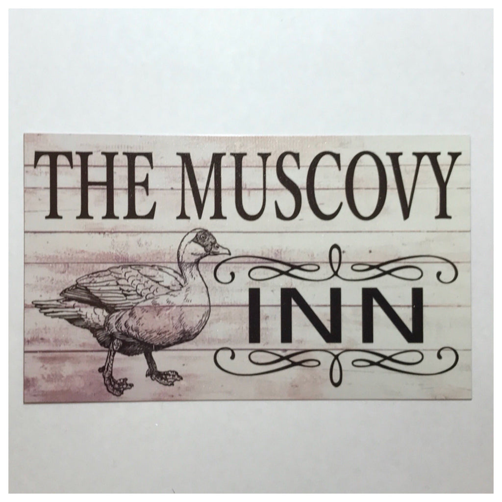 The Muscovy Duck Inn Sign Plaque Or Hanging - The Renmy Store