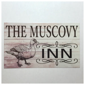 The Muscovy Duck Inn Sign - The Renmy Store