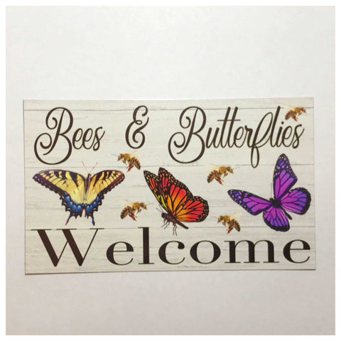 Bees & Butterflies Welcome Sign | The Renmy Store