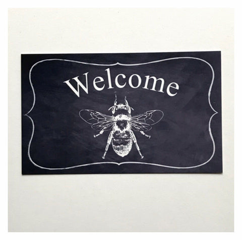 Welcome Vintage With Bee Sign Plaque or Hanging - The Renmy Store