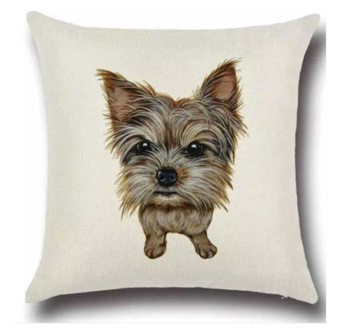 Cushion Pillow Dog Silky Yorkshire Terrier Cushions, Decorative Pillows The Renmy Store