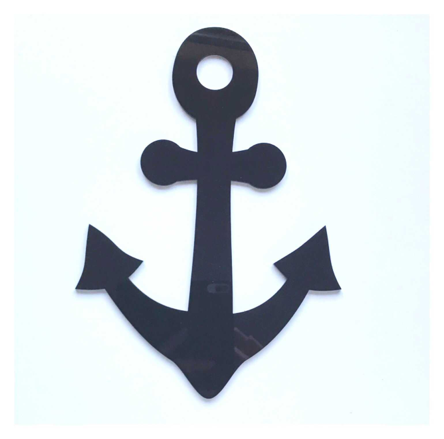 Anchor Boat Nautical Beach Black or White Acrylic Decor - The Renmy Store