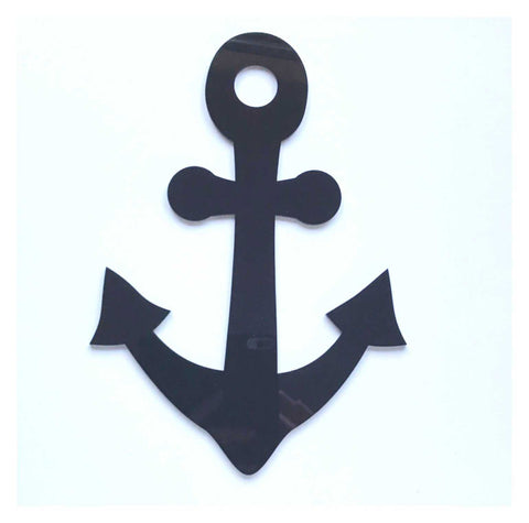 Anchor Boat Nautical Beach Black or White Acrylic Decor | The Renmy Store