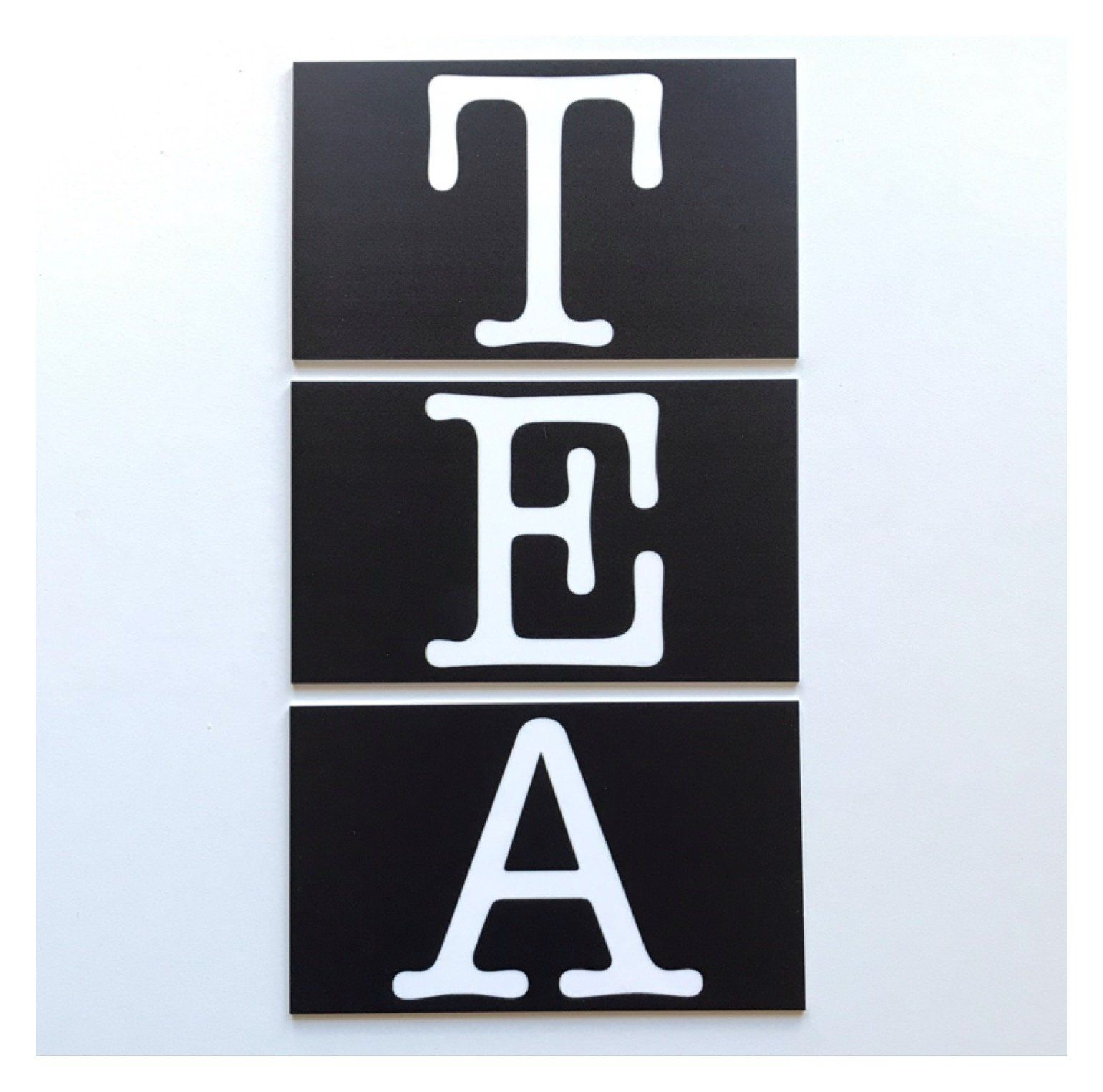 Tea Set Of 3 Letters Sign - The Renmy Store