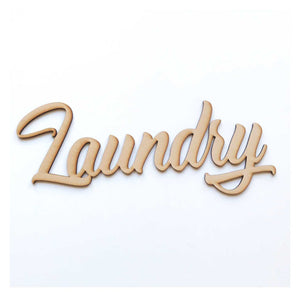 Laundry Word Sign MDF DIY Wooden - The Renmy Store
