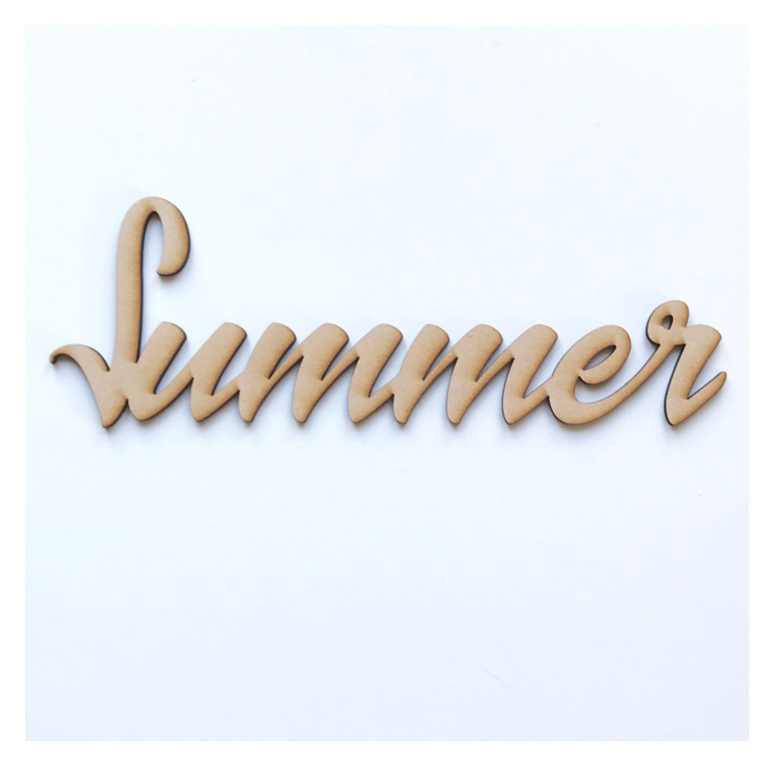 Summer Word Sign MDF DIY Wooden - The Renmy Store
