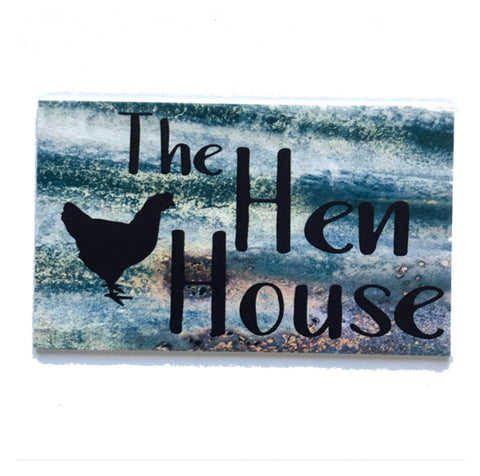 The Hen House Rustic Metal Style Sign