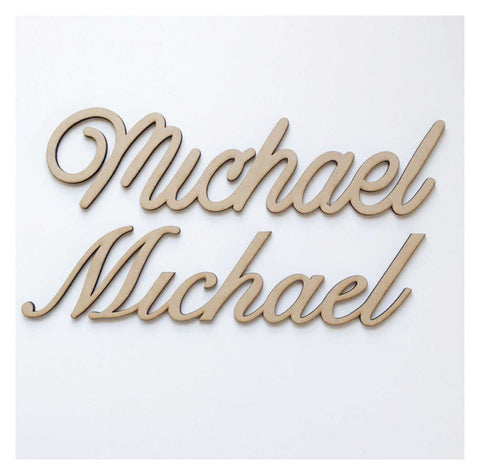 Name Word Text Custom Personalised Wooden MDF