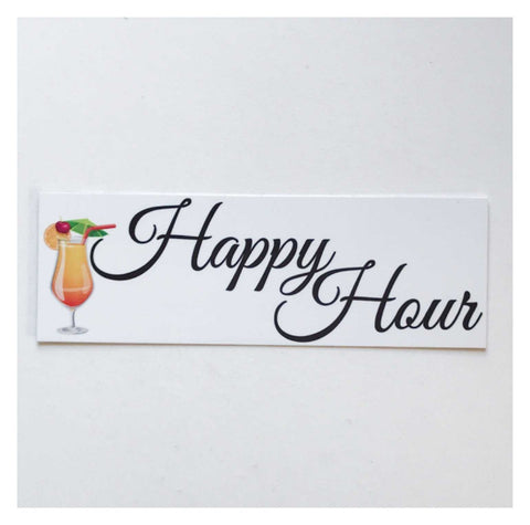 Happy Hour Cocktail Sign